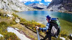 The John Muir Trail is 210 miles of breathtaking landscape in California's Sierra Nevadas that begins in Yosemite Valley and ends at the top of Mount Whitney. Nevada, Surf, Utah, Mount Whitney, John Muir Trail, Arizona, Thru Hiking, Gopro Photography, Pacific Crest Trail