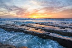 Coastal sunset with rocky coast, Hospital's Reef, La Jolla, California, USA.  #ourplanetdaily #agameoftones #landscape_captures #way2ill #photography #nikon #decor  #interiordesign #nature #travelphotography #LaJolla  #California  #SouthernCalifornia #Sunset #lajollalocals #sandiegoconnection #sdlocals - posted by Joseph S. Giacalone  https://www.instagram.com/josephs.giacalonephoto. See more post on La Jolla at http://LaJollaLocals.com