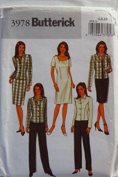 Butterick 3978 Misses'/Misses' Petite Jacket, Dress, Skirt and Pants