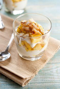Pina Colada Yogurt Parfait Pineappleandcoconut.com pineapple coconut healthy 3 Pina Colada Yogurt Parfaits
