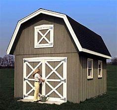 Backyard Barn Shed Plan