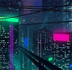 New Retro Streetwear Synthwave Fashion Brand Cyberpunk City, Cyberpunk Aesthetic, Neon Aesthetic, Futuristic City, Futuristic Architecture, Aesthetic Anime, Cyberpunk 2077, Pixel City, Arte 8 Bits