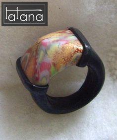 Tatana polimerica fimo polymer clay joyeria jewelry spain españa - Anillos - Rings. #PolymerClayJewelry
