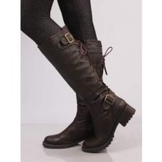 Wanted: lace up brown fall/winter boots Heeled Boots, Bootie Boots, Ankle Boots, Crazy Shoes, Me Too Shoes, Botas Boho, Riding Boots, Combat Boots, Jace Lightwood