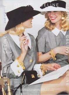 The Gloss Menagerie ca. — 1992 - Celine The Gloss Menagerie ca. Chanel Fashion, 80s Fashion, Fashion Week, Fashion Brands, Fashion Outfits, Fashion Clothes, Celine, Moda 80s, Vintage Vogue