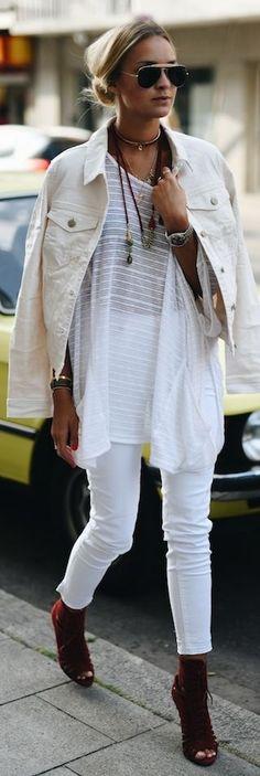 Nina Suess Cream On White Fall Inspo