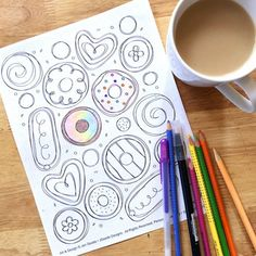 Start The Morning With Donuts You Can Color This Free Printable Is An Original Doodle