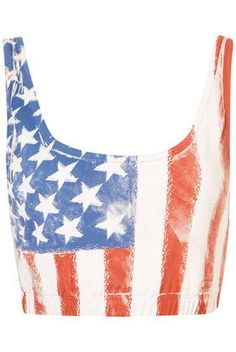 American Flag Bralet - Jersey Tops - Clothing on Wanelo