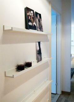 White minimal shelves