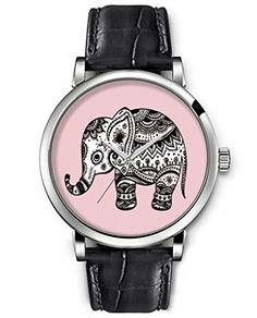 SPRAWL Aanalog Ladies Women Top Wrist Watch Silver Large Face Black Leather Quartz Watches -- Floral Elephant Watch for Kids SPRAWL http://www.amazon.com/dp/B00LZTAH1M/ref=cm_sw_r_pi_dp_i6fFub0V2SC6E
