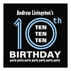 68 Best 10th Birthday Party Invitations Images In 2018