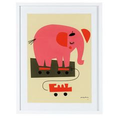 Heal's | Darling Clementine Elephant Framed Print - Childrens Art - Art - Accessories