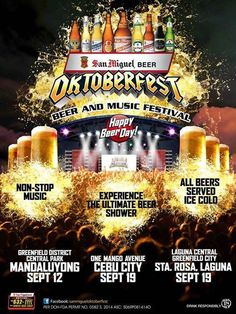 It will rain beer this September 19, 2014 for the San Miguel Beer's annual Oktoberfest Beer and Music Festival. This time, in Cebu City, the party will happen at One Mango Avenue. | Cebu Finest