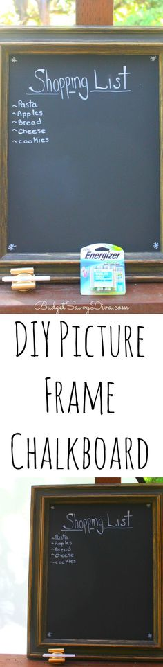 DIY Picture Frame Chalkboard Tutorial #bringinginnovation - I am love with this DIY ad It looks great in my kitchen