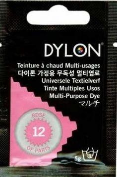 Teinture multi-usages Dylon ROSE DE PARIS N°12 (=capsule)