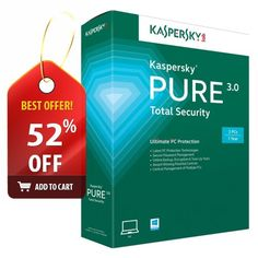 Kaspersky Total Security 2015 Pure 3.0 3PC 1 Year NEW (Antivirus for PC)