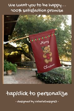 #promo Teddy's Gift House Flag #valerie #hartley #bennett #the #layers #affiliatelink #merrychristmassigns #merrychristmas #holidaysigns #christmasdecor Merry Christmas Sign, Christmas Mood, Holiday Signs, Christmas Decorations, Holiday Decor, House Flags, Custom Homes, Decorating Your Home, Create Your Own