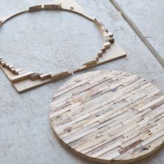 circle wood side table