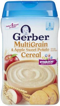 Gerber 2nd Foods Baby Cereal - Multigrain Apple Sweet Potato - 8 oz  6 pack 6x3=18 8oz boxes of cereal