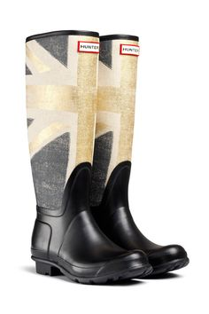 shopping e imagenes de celebrities con botas de agua: Hunter con bandera del Reino Unido