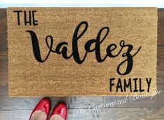 Customized Doormat 100% Coir Material 18x30  This mat makes a wonderful wedding gift, anniversary gift, realtor closing gift, housewarming, or any occasion!  Coir doormats are made of 100% natural coir and are great for preventing dirt and mud from tracking inside your home. Doormats are stain, rot, and mildew resistant. We use a sealant to ensure that your mat is perfect for your doorstep. We suggest you keep your mat as dry as possible to avoid darkening of the fibers. To clean, simply…
