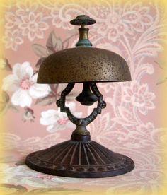 Antique Vintage Brass Hotel Desk Bell