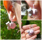 Cat and Wool Clew fake plug / earring by ~Bojo-Bijoux on deviantART