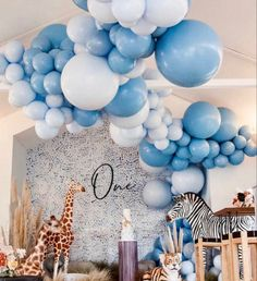 #jungleparty #firstbirthday #balloons