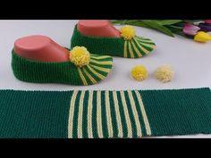 Tunisian Crochet, Crochet Stitches, Knit Crochet, Bed Socks, Irish Lace, Crochet Slippers, Cute Crafts, Cotton Thread, Knitting Socks