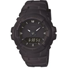 Mens G Shock Black Out Basic Watch Black Cotton ($175) ❤ liked on Polyvore featuring men's fashion, men's jewelry, men's watches, black, digital watches, mens watches, watches, g shock mens watches, mens digital watch and mens watches jewelry