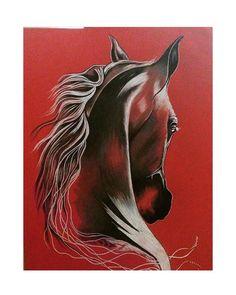 ����kırmızı canson üzerine fantastik calışma #kagit #kırmızı #fantastik #at  #kismetseolur #resim #tablo #tuval #sanat #evdekorasyonu #dekorasyon #deko http://turkrazzi.com/ipost/1521299479926820711/?code=BUcvdEaBk9n