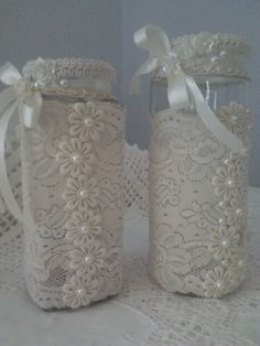 Altered jars <3   Lace & Pearls Creations*