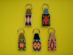 Native American Beaded Keychains | native american seed beaded key chains | Key chain with glass seedbead ...