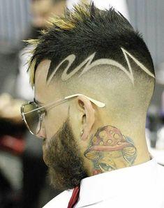 Kid Boy Haircuts, Hot Haircuts, Black Men Haircuts, Cool Mens Haircuts, Hair Tattoo Designs, Hair Designs For Men, Hair And Beard Styles, Hair Styles, Shaved Hair Designs