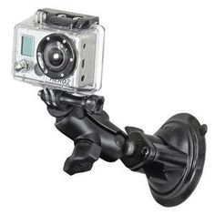 """RAM-B-166-A-GOP1U: RAM Twist Lock Suction Cup Mount, Short Double Socket Arm & 1"""" Diameter Ball with Custom GoPro Hero Adapter by RAM. $31.99. The RAM-B-166-A-GOP1U consists of a 3.25"""" twist lock suction cup base, SHORT size double socket arm and 1"""" diameter ball with custom GoPro® Hero adapter. The mount is designed with a RAM 1"""" diameter patented rubber ball and socket system that has adjustment points at both ends of the double socket arm; this allowing for almost infinite ad..."""