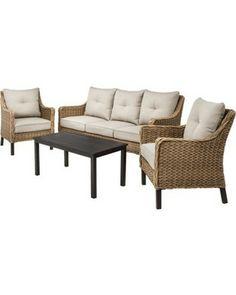 walmart shutter 4 piece patio conversation set seats 4 lidar rh pinterest com