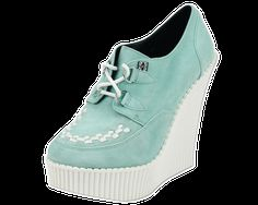 Mint Suede Creeper Wedge - T.U.K. Shoes | T.U.K. Shoes