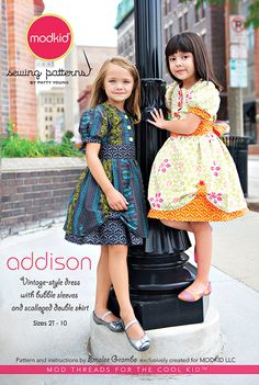 Addison - Vintage Dress w/ Bubble Skirt - Modkid (size 2T-10) - $12.95 : Whimsical Designs