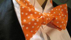 Orange Splash Bow Tie by Cloutseu on Etsy, $20.00