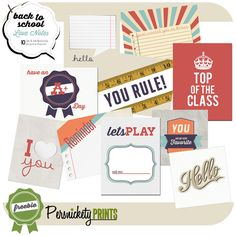 Free Printable Back to School Love Notes via @Persnickety Prints