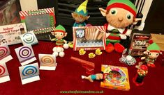 Theelves set up some fairground stalls, snowball target practice, shooting ducks, jellybean roulette, gumball machine and a fruit slot machine. Woodland Elf, Target Practice, Gumball Machine, Father Christmas, Stalls, Magical Creatures, Family Traditions, Snowball, Jelly Beans