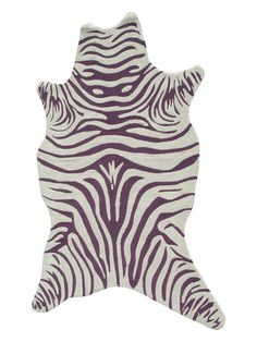 Zebra Shaped Hand-Hooked Rug by The Rug Market at Gilt
