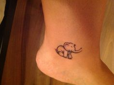 My wee elephant tattoo