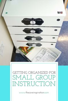 Looking for tips to organize your supplies and materials for small group instruction? The three solutions in this post will help you with time management so small groups run smoothly in your classroom. I love #2 most. :)