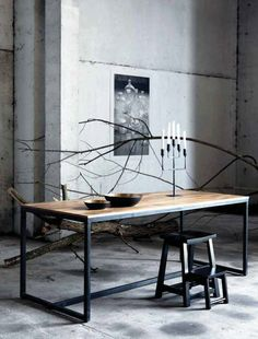 Modern Table Made From Wood And Iron By House Doctor Kitchen Dining, Dining  Room,