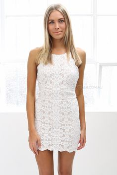 Love how the dress is lace but don't like that it's white