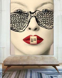 Art by Chantal Leger | Hobby Decor | hobbydecor | #interior #design #decoracao #detalhes #decor #home #casa #design #idea #ideia #modern #moderno #aconchego #cozy #madeira #wood #hobbydecor #diningroom #ideas #art