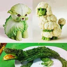 три зверушки из капусты - Креативные - Красивые картинки, фото - Галерея картинок - Галерейка