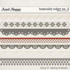 Basically Edgy No. 2 by Krystal Hartley, Sweet Shoppe Food Expo, Scrapbook Designs, Printable Designs, Digital Scrapbooking, Scrapbooking Ideas, Krystal, Vintage Cards, Clip Art, Memories