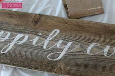 Craftaholics Anonymous®   DIY Rustic Wood Sign Tutorial